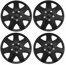 "Streetwize Tempest Car Wheel Trim Set 14"" Matt Black Set Of 4 Hub Caps Covers"