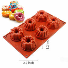 6-Cavity Silicone Mini Bundt Cake Mold Baking Pan Savarin Mould Cookie Bakeware