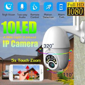Outdoor Waterproof WiFi PTZ Pan Tilt 1080P HD Security IP IR Camera Night Vision