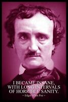 Edgar Allan Poe I Became Insane Purple Quote Mural inch Poster 36x54 inch