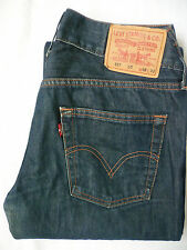 LEVI'S 557 EVE JEANS LADIES SQUARE CUT STRAIGHT W32 L32 STRAUSS BLUE # LEVE316