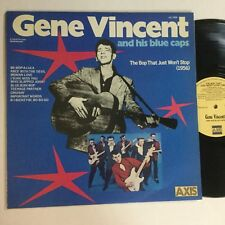 "Gene Vincent And His Blue Caps The Bob Just Won't Stop 12"" LP"