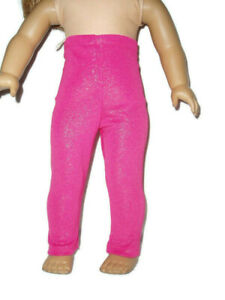 """Sparkly Pink Leggings fits American Girl dolls 18"""" doll clothes"""