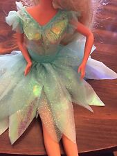 Vintage? Barbie Doll Size Fairy costume dress Up Halloween *Free Gift Guc