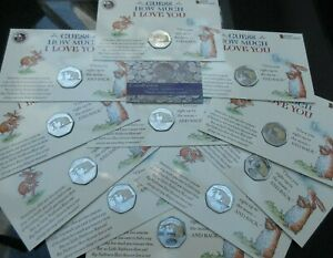 2020 BU Gibraltar 50p FIFTY PENCE Coin Guess How Much I Love You BUNC PACK