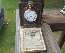 Rare 1914 Hamilton Ball 999M 21 Jewel Pocket Watch w/original box and papers.
