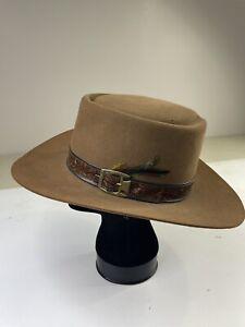 Stetson Revenger 4X Beaver Felt Cowboy Rancher Western Hat 7 3/8 Brown XXXX