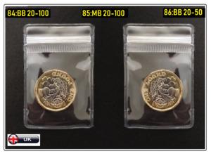PVC Plastic Coin / Badge Holders Clear Plastic bag Wallet Envelope Zip Lock UK