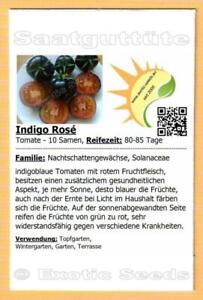 🍅 Tomate 'Indigo Rose' , dunkelviolette Cherrytomate, 10 Samen