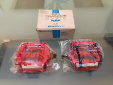 NOS 80s Red 1/2 SHIMANO PD-MX15 Old School BMX Pedals REDLINE MONGOOSE GT SKYWAY
