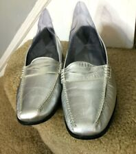 Walter Genuin Women's Firenze LStreet Silver Shoes 8.5 B