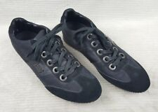 Guess 'Karl' Two Tone Black Leather Lace Up Fashion Sneakers Men's 13 Excellent