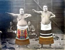 Japanese Sumo Wrestlers, Japan - 1880s - Historic Photo Print