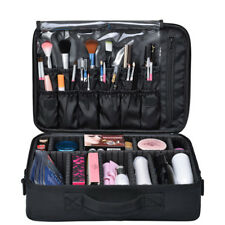 Professional Makeup Cosmetic Case Beauty Artist Storage Organizer Pouch Black US