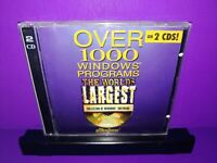 The World's Largest Collection Of Windows Software PC CD ROM 1000 Programs B458