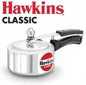 Hawkins Classic Aluminum Pressure Cooker New Improved.  Available in All Sizes