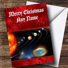 Sistema Solare pianeti spazio personalizzato Natale Auguri card