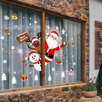 Weihnachtsfenster Türen Aufkleber Baum Santa Scene Weihnachtsspiegel Aufkleber