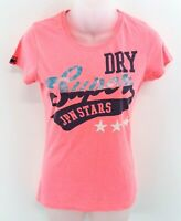 SUPERDRY Womens T Shirt Top XS Pink Cotton & Polyester