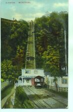 Cable Street Car Elevator Mount Royal Funicular Montreal Canada 1900s postcard