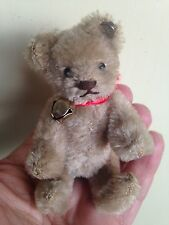 RARE ANTIQUE VINTAGE STEIFF MINIATURE MOHAIR TEDDY BEAR FULLY JOINTED W/ID CUTE