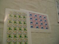 SOUTH KOREA-(-1984-)-SCOTT # 1389-1390-LOT of 2-FULL Sheets -MNH-CAT.VAL.$ 25