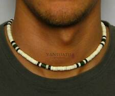 "MALIBU BEACH Mens Beads Necklace Choker for Men Man Surfers Boy 18"" beach gift"