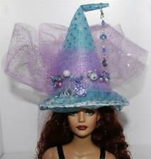 Four Elements Water Beaded Mini Fairy Salem Witch Hat #22 Doll Bottle Ornament