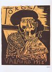 Pablo Picasso, Toros Vallauris Bullfight 1958 Vintage Poster 1964 Platesigned
