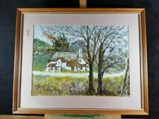 Acrylic Houses Signed Art Paintings