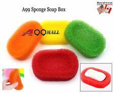 4pcs A99 Sponge Soap Box Case Bathroom Soap Dishes Random Color