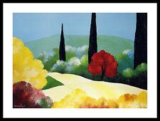 Bernard Payet Jardin d' Automne Poster Bild Kunstdruck im Alu Rahmen 60x80cm