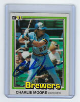 1981 BREWERS Charlie Moore signed card Donruss #324 AUTO Autographed Milwaukee