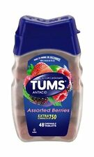 2 Pack - TUMS E-X 750 Tablets Assorted Berries 48 Tablets Each