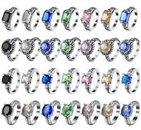 New Size 6-9 Silver Brand Engagement Ring For Women Genuine 925 Sterling Jewelry