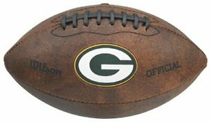 """Wilson NFL Green Bay Packers 9"""" Color Logo Composite Leather Mini Football"""
