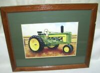 John Deere Tractor Print Vintage