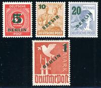 BERLIN, MiNr. 64-67, sauber ungebraucht, gepr. Schlegel, Mi. 75,-