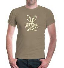 Herren Unisex Kurzarm T-Shirt Osterhase V2 Möhre Schlappohr Hase Häschen