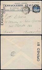 ITALY to ARGENTINA 1940 BRITISH CENSORED ENVELOPE MESSAGGERIE PRINTED