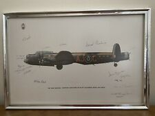 More details for the dam busters dambusters 617 sqn raf print guy gibson harris vc dfc signed x18
