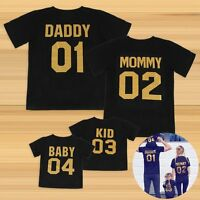DADDY MOMMY KID BABY T-Shirt Couple Matching Shirts Family Clothes Tee Tops Gift