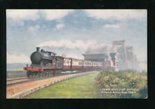 Railway L&NWR IRISH BOAT EXPRESS Britannia Bridge Anglesey 1912 PPC