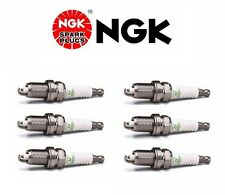 VW Audi Set of 6 NGK Spark Plugs V-Power Resistor OEM Power Performance BKR5E