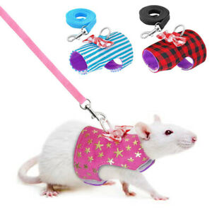Ferret Hamster Squirrel Rat Harness Lead Leash Small Animal Pet Suppy Cute XS-M
