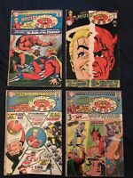 HOUSE OF MYSTERY Silver Age lot of 4: #160 (KEY: 1st SA Plastic Man),164,166,173