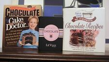 3 books containing Chocolate recipes, cake and otherwise