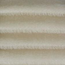 """1/6 yd 325S White INTERCAL 5/8"""" Semi-Sparse Pile German Mohair Plush Fur Fabric"""