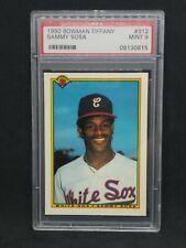 1990 Bowman Tiffany #312 SAMMY SOSA Rookie Card Graded PSA 9 Only 3000 Produced!