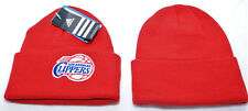 More details for los angeles clippers, adidas cuffed beanie hat, red